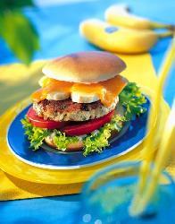 Hamburger z indyka i bananów