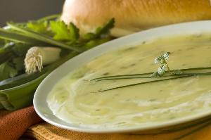 Wegetariańska zupa porowa
