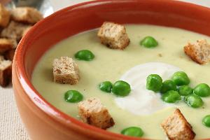 Zupa krem sojowo-groszkowa